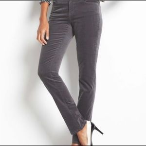 EUC Ann Taylor The Skinny Modern Grey Velvet Pants